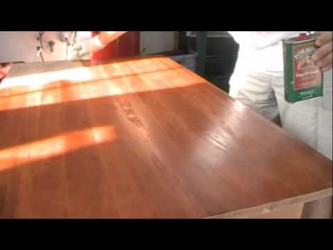Refinishing a Wood Table: Don't throw that dinged and scratched table away, liven it up with a sander and tung oil.