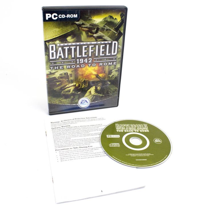 Battlefield 1942: The Road to Rome for PC CD-ROM by Electronic Arts, 2003, VGC