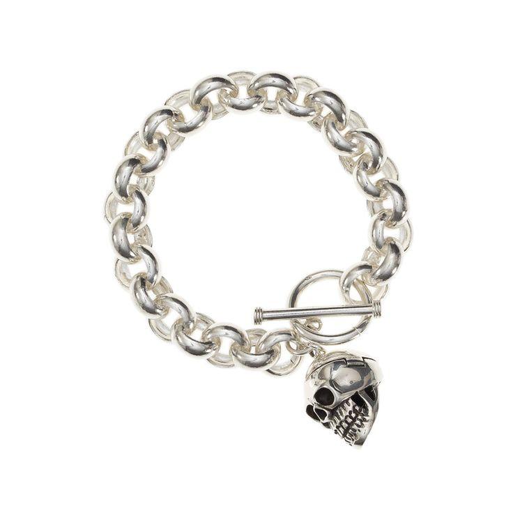 Chunk Bracelet Sterling Silver Skull | iRock Jewellery