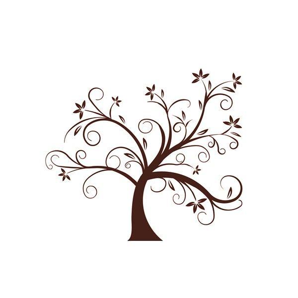 Vinilo árbol florecido