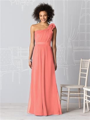 another coral bridesmaid dress