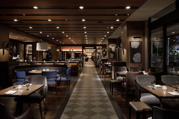 "Grand Prince Hotel New Takanawa ""SLOPE SIDE DINER ZAKURO"" [5] #restaurantdesign"