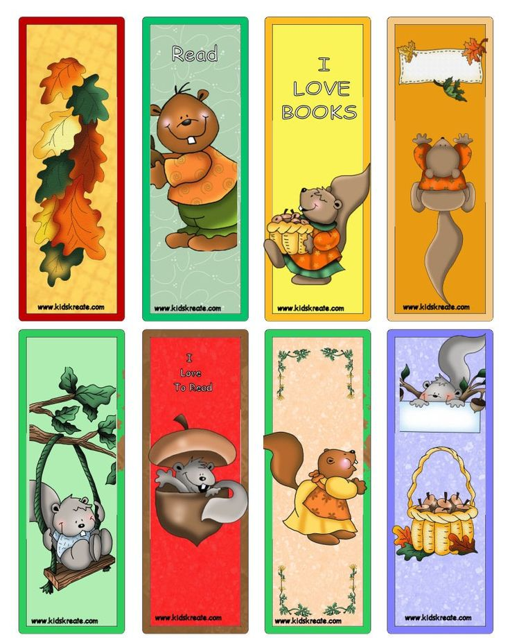 Free Printable Bookmarks For Children More