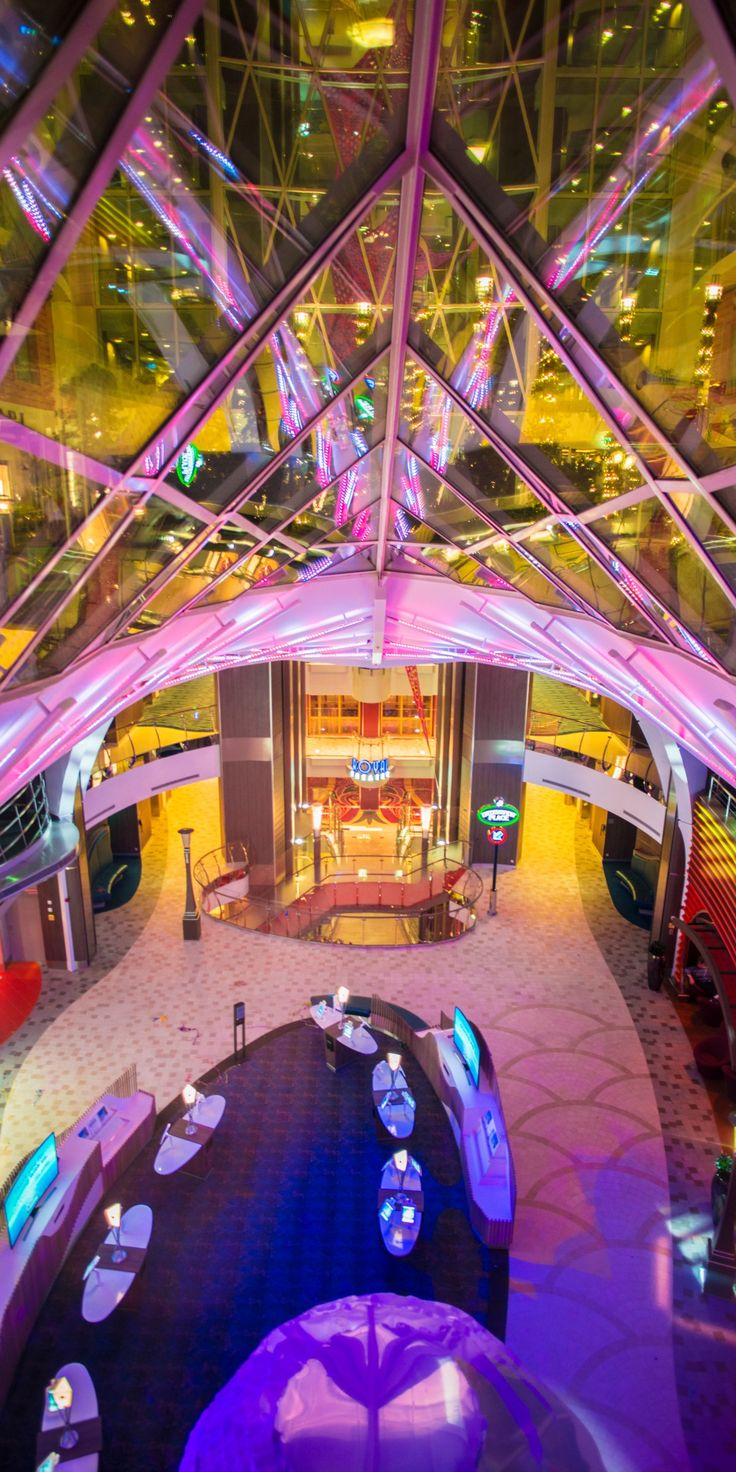 Harmony of the Seas | The origin of adventure. Cruise on one of Royal Caribbean's four Oasis Class ships and explore unique neighborhoods at sea. Whether you catch an innovative show in the AquaTheater or zip line across the ship nine stories up, you'll find the thrill you've been looking for.