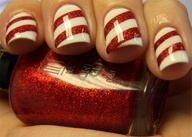 Chloe's Nails: Peppermint Mani...... with Milani's Red Sparkle