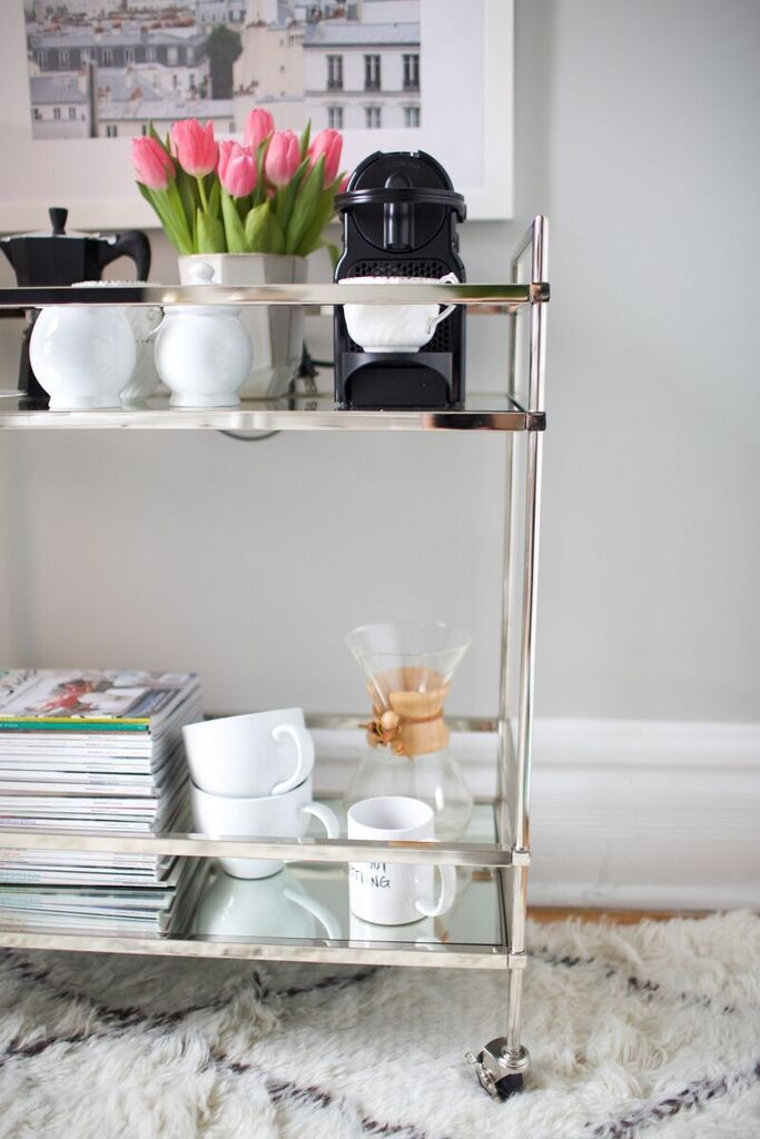 55 best images about bar carts on pinterest coffee carts for Coffee cart for home