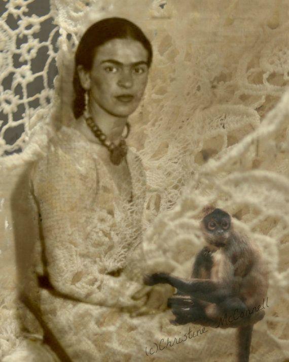 Frida Kahlo Art Print Quote Original Digital 8x10 by ARTDECADENCE, $23.00