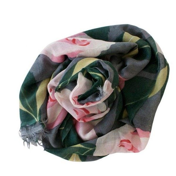 Cats & Ghosts Camellia Cashmere Scarf (564.575 COP) ❤ liked on Polyvore featuring men's fashion, men's accessories, men's scarves, accessories, scarves, women and mens cashmere scarves