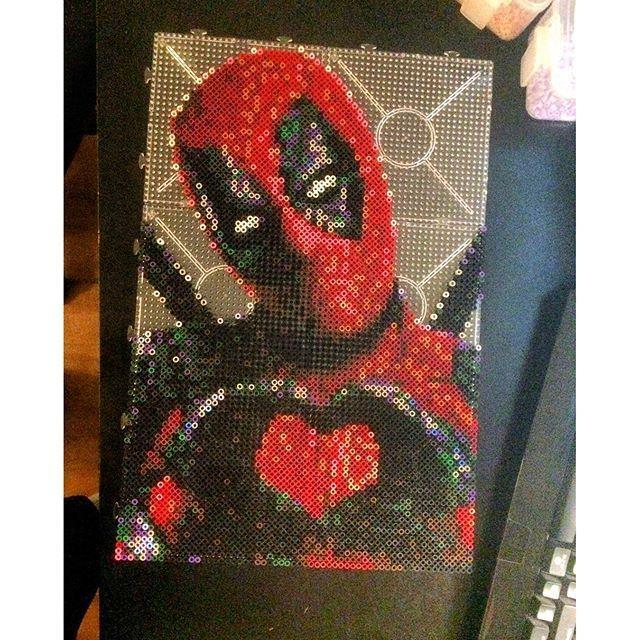 Deadpool Made Out Of Pearler Beads Hilarious Bugelperlen