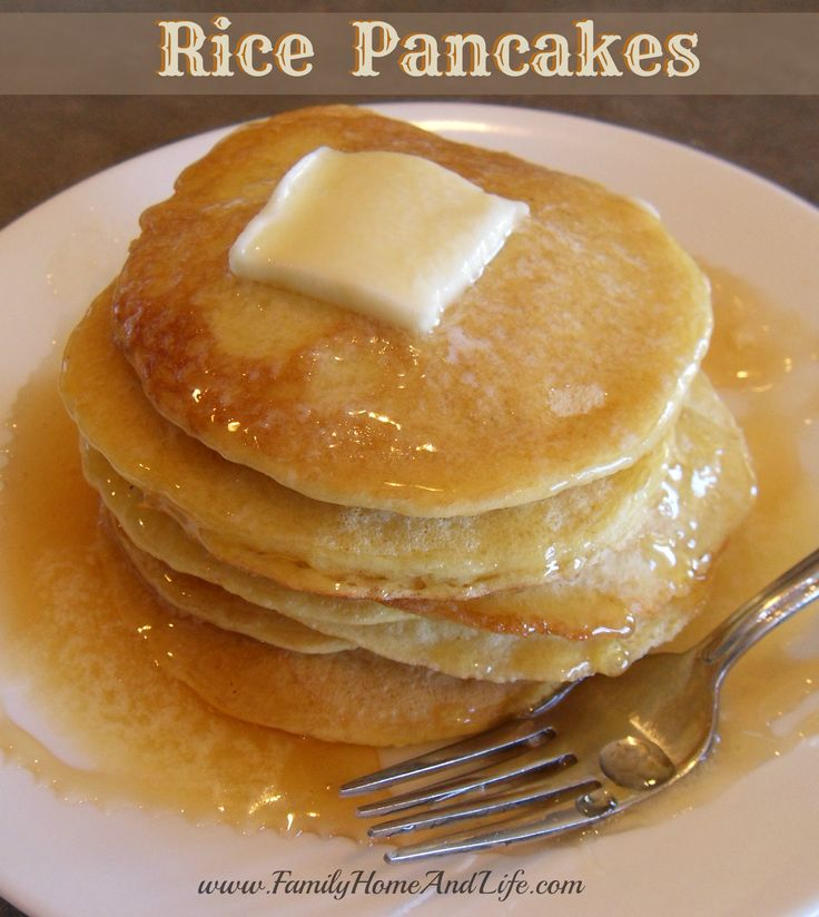 Family Home and Life: Rice Pancakes