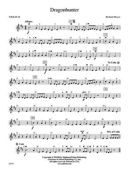 dragon hunter sheet music violin 1 | Dragonhunter: 2nd Violin. I've played this before. :3