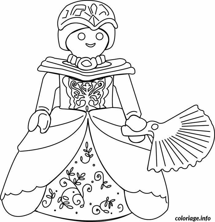 Coloriage Playmobil Princesse