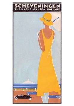 Scheveningen Beach,1930 - Holland, Netherland - Louis C. Kalff, vintage travel brochure #essenzadiriviera.com