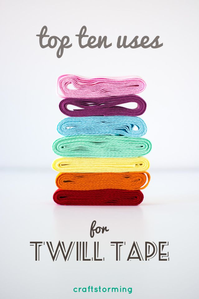 Titchy Tips: Top 10 uses for twill tape from Craftstorming