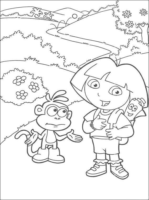 dora the explorer coloring pages 156