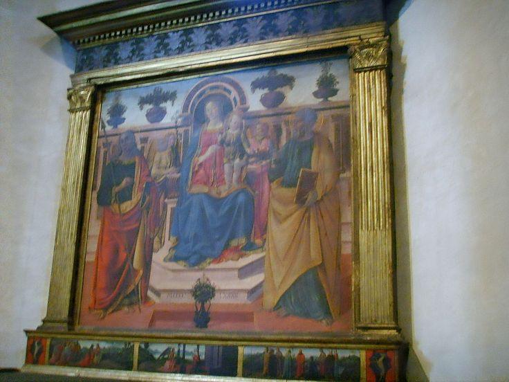 Santo Spirito, cappella corbinelli, suarez-compagni-altoviti, cosimo rosselli, sacra conversazione, 1482 - Category:Santo Spirito (Florence) - Interior - Wikimedia Commons