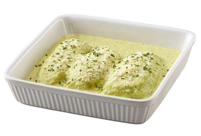 Pollo en salsa cremosa de cilantro