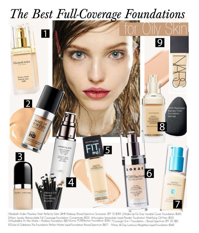 """""""The Best Full-Coverage Foundations for Oily Skin"""" by kusja ❤ liked on Polyvore"""