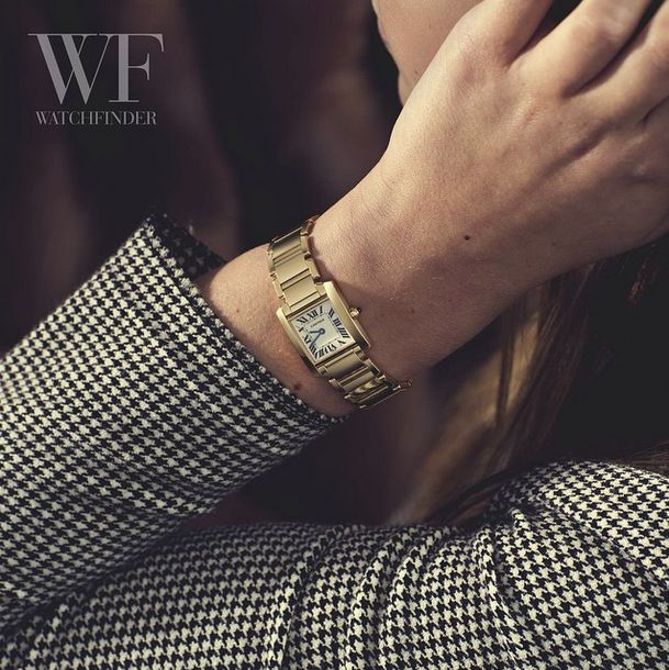 Exceptional professional suited femininity ~  Cartier Tank Francaise