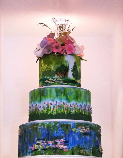 Claude Monet water lilies cake.