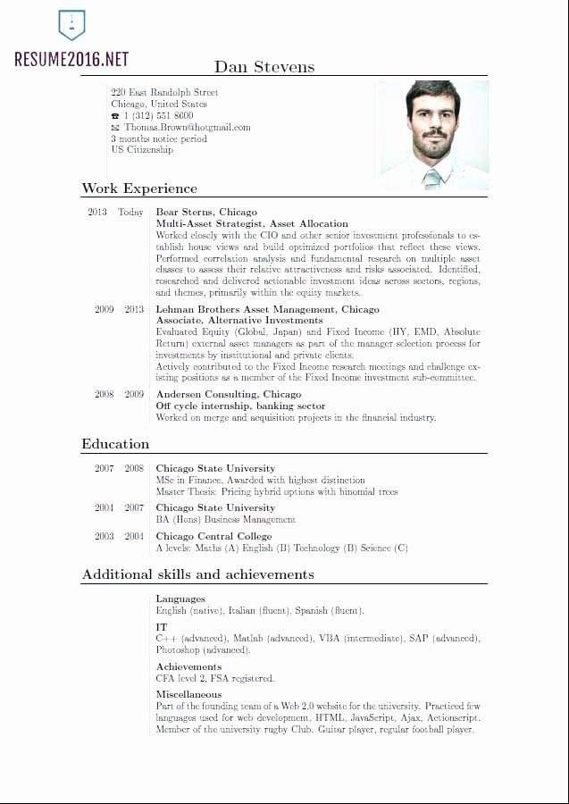 Resume Curriculum Vitae Template Lovely 10 Resume English Example In 2020 Latest Resume Format Best Resume Format Resume Format For Freshers