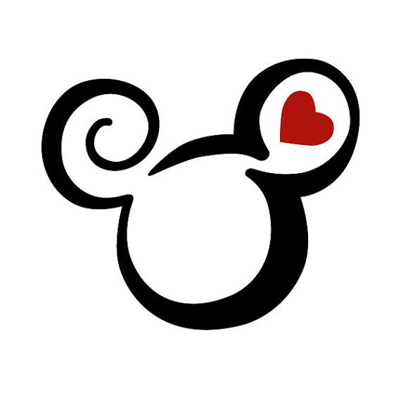 Mickey Mouse Two Color Tattoo / Disney Animal by BVStickers