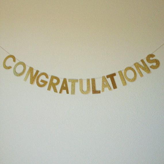 25 unique congratulations banner ideas on pinterest diy glitter congratulations banner glitter banner by partyhappier pronofoot35fo Images
