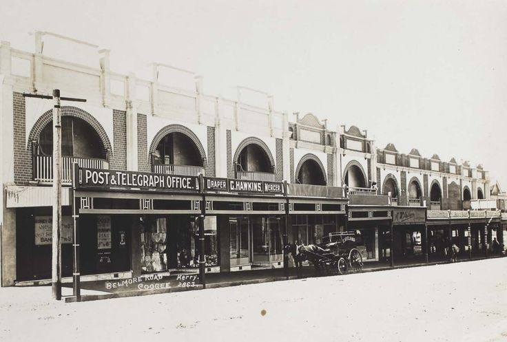 Shops at the bottom of Coogee Bay Road. Courtesy of the Randwick District Historical Society and Randwick City Library