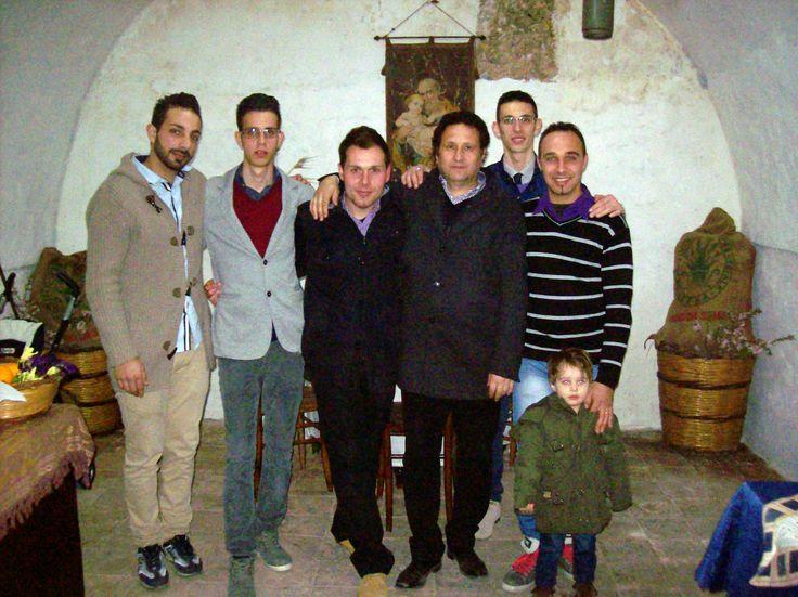 Da sinistra Giuseppe Ferraro, Valerio Carlo Bellone, Vincenzo Cultraro, l'avvocato Carlo Bellone, Paolo Totò Bellone, Lorenzo Piscitello