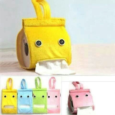 Porta rolo de papel higienico em feltro diy ideas Kids toilet paper holder
