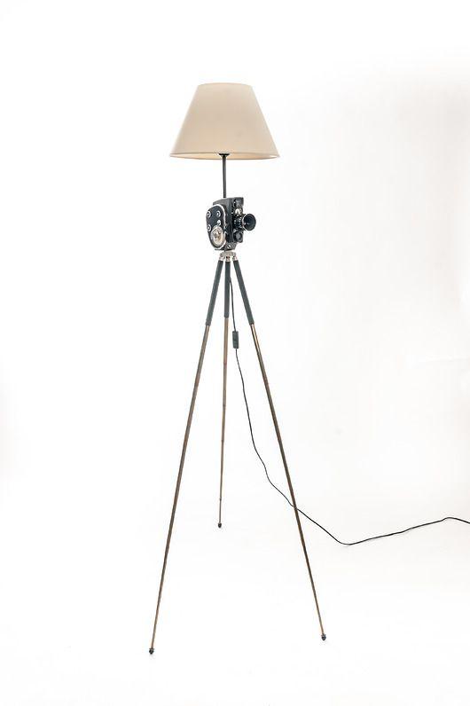 Lampa Kamera Filmowa ~ Vintage design