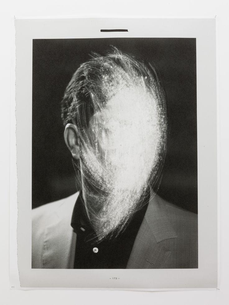 X-173-Key, Sandpaper abrasion on paper print, 150 x 200 cm., Anat Ebgi, Los Angeles, 2013 (photo: Michael Underwood)
