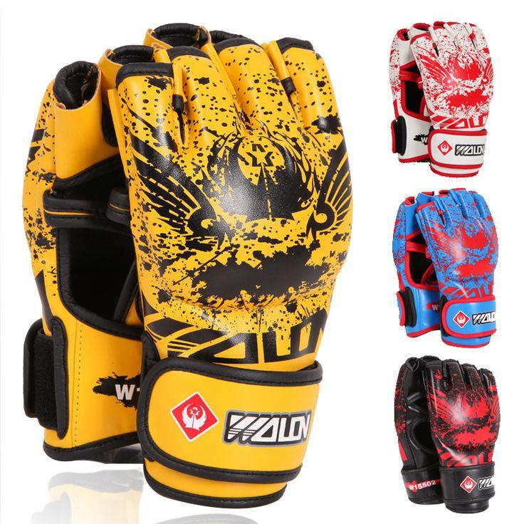 Volwassen Dikke Bokshandschoenen mma handschoenen half vinger Sanda Taekwondo Vechten MMA Zandzak Handschoen Professionele Trainingsapparatuur