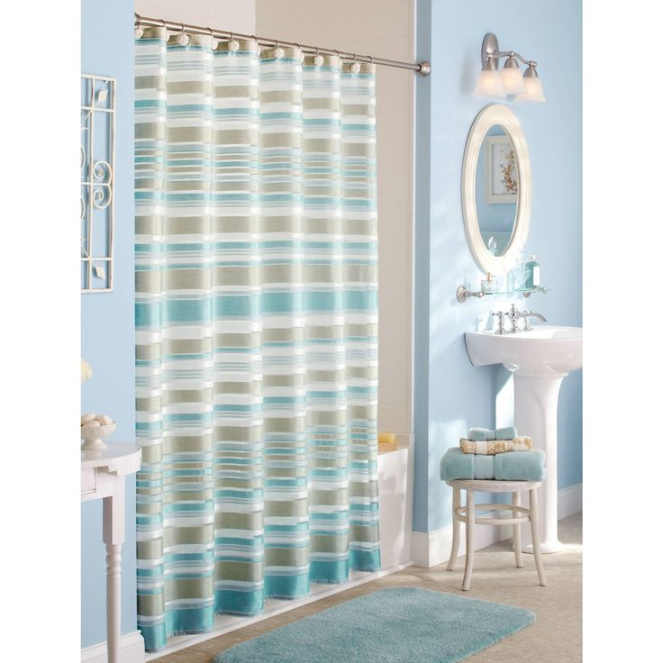 Yellow Shower Curtains Walmart intended for size 2000 X 2000 Yellow And White Striped Fabric Shower Curtain - As creatures o