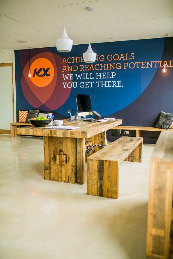 KX YOGA - Melbourne's first fully assisted yoga studio in Malvern, VIC.  #kxyoga #yoga #yogastudio #vinyasa #hotyoga #vinyoga #kx #malvern #wallart #branding #insidethestudio #moderndesign  #interiordesign