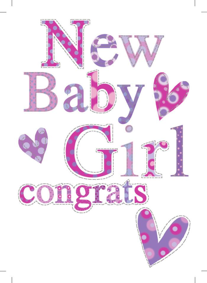 AD494A NEW BABY GIRL CONGRATS HEARTS.jpg | Jeannine Rundle | Representing leading artists who produce children's and decorative work to commission or license. | Advocate-Art
