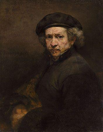 Rembrandt - Autoportrait, 1659.