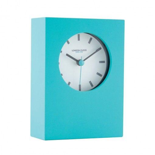 Tangent Mantel Clock - Teal Front