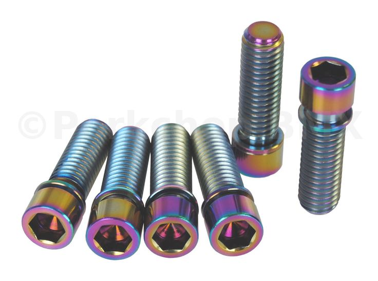Bolts and Fasteners 177804: Bmx Stem Bolts M8 X 1.25 Set Of 6 Titanium Oil Slick Jet Fuel Neochrome Rainbow BUY IT NOW ONLY: $33.99