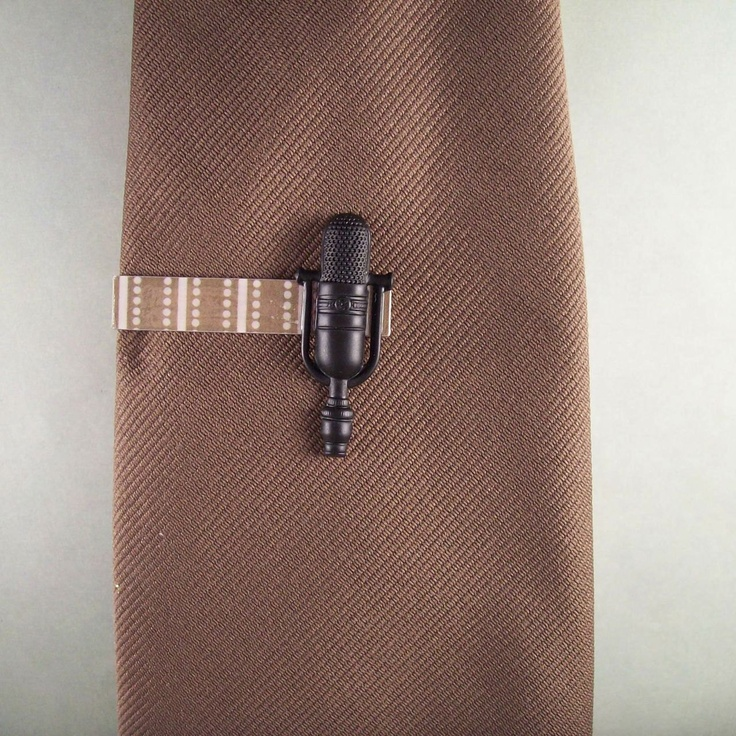 Microphone Tie Clip (men's). $7.00, via Etsy.: Ties Clip, Clip Men'S S, Tie Clips, Microphone Ties
