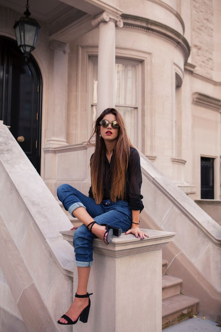 Negin Mirsalehi  Love this outfit. Could recreate it with my black American Apparel chiffon blouse.
