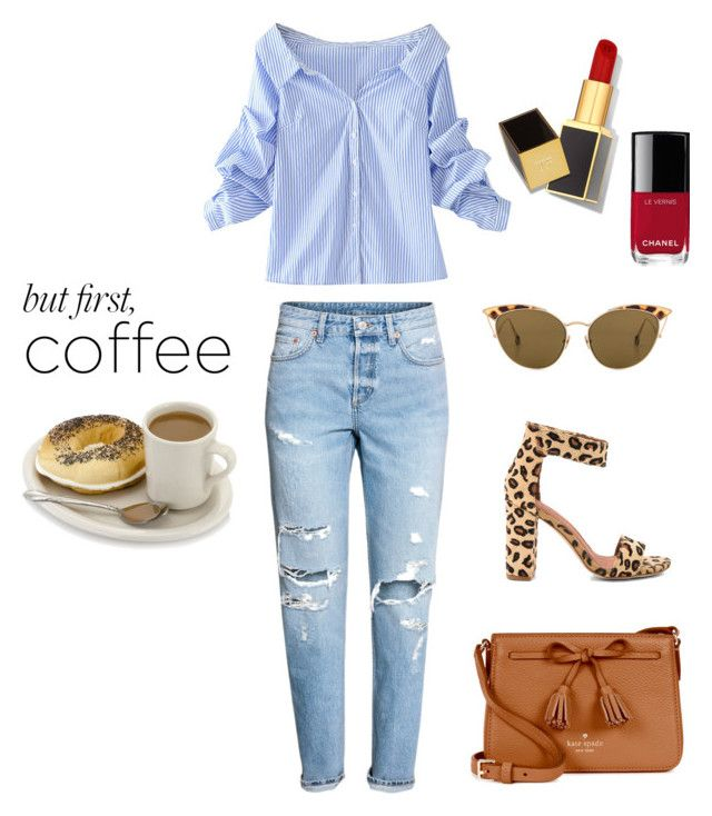 Coffee is the first by csmarcsi on Polyvore featuring polyvore, fashion, style, WithChic, Jeffrey Campbell, Kate Spade, Ahlem, Tom Ford, Chanel and clothing
