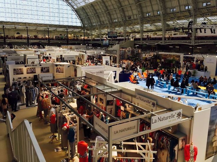View from above at Pure London Show at the Olympia Exhibition Center.  #purelondon #florideie #fashion #show #style