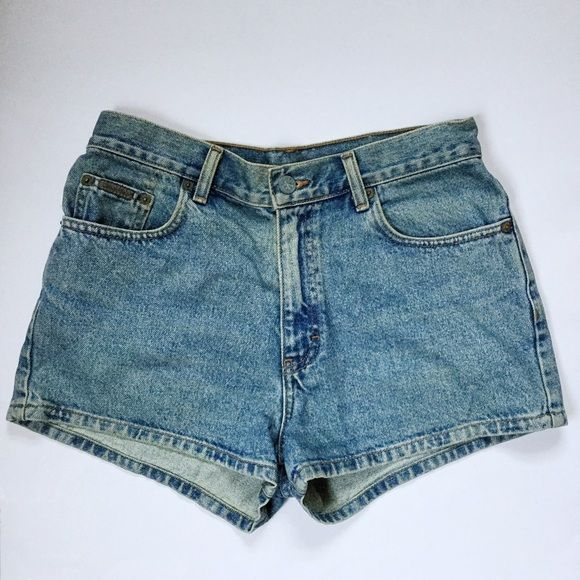 Vintages Stonewashed Calvin Klein Jean Shorts Blue wash vintage Calvin Klein Shorts.Could be worn high waisted or mid rise depending on your size. Waist is 15 inches and they are 12 inches long. Calvin Klein Shorts Jean Shorts