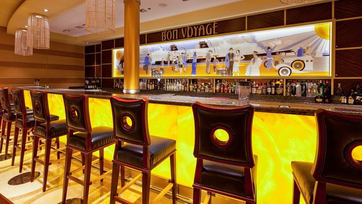 Bon Voyage Toast to a good journey with a refreshing beverage at this sophisticated Art Deco retreat located in the grand Atrium. Serving cocktails, coffees, juices and sodas, this full-service bar is a great place to meet up with loved ones while at sea. Ship Locations Disney Dream, Disney Fantasy  Nightclubs & Lounges Adult Exclusive