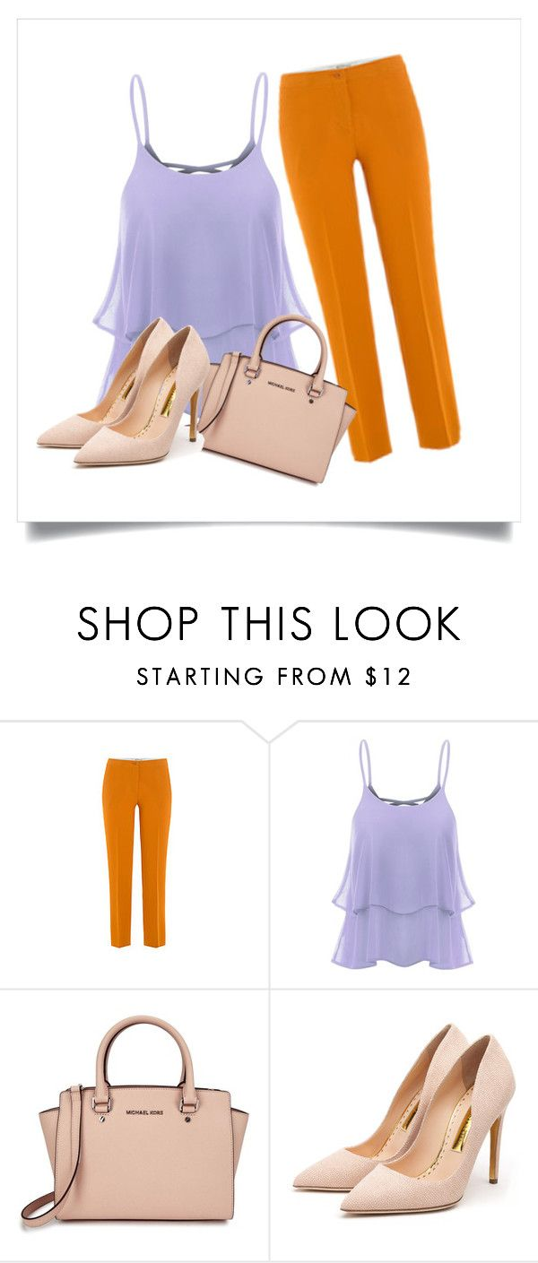 Orange and lilac by catarina-teixeira-de-queiros on Polyvore featuring Etro, Rupert Sanderson and Michael Kors