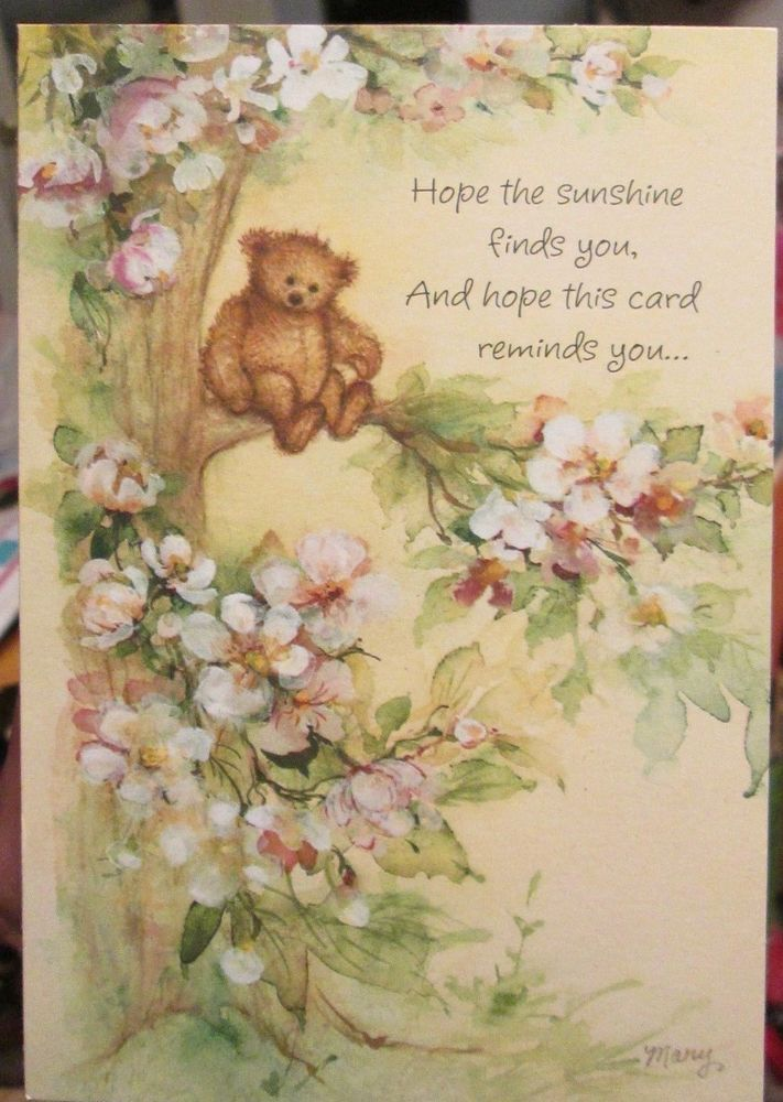 300 best vintage greeting cards images on pinterest vtg hallmark mary hamilton marys bears greeting card flower blossom tree cover m4hsunfo Gallery