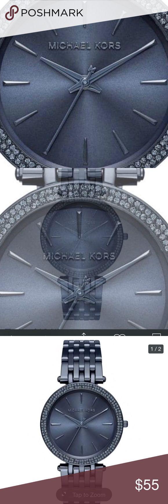 Michael Kors Women's 'Darci' Crystal Blue Watch Michael Kors Women's MK3417 'Darci' Crystal Blue Stainless Steel Watch Michael Kors Jewelry