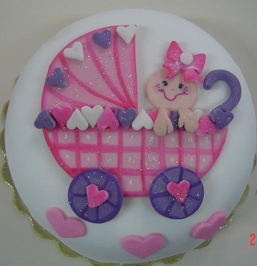 Disco De Azucar Para Torta Baby Shower// Baby Shower Cake // Pastel De