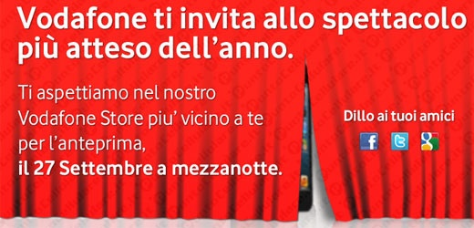 Vodafone - domani la Notte Bianca per iPhone 5 in 29 citta' italiane
